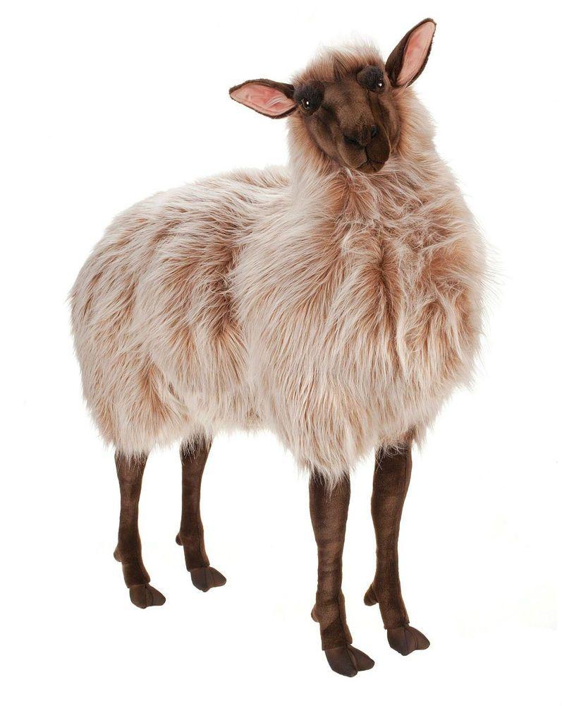 hansa plush life size sheep gentle ewe brown 3595 realistic stuffed animal large bayis frum. Black Bedroom Furniture Sets. Home Design Ideas