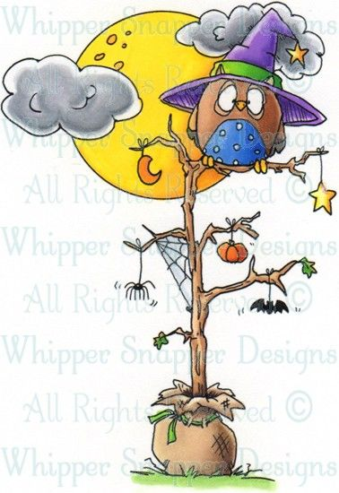 halloween tree halloween images halloween rubber stamps rh pinterest com Halloween Clip Art Wednesday Sunrise Clip Art