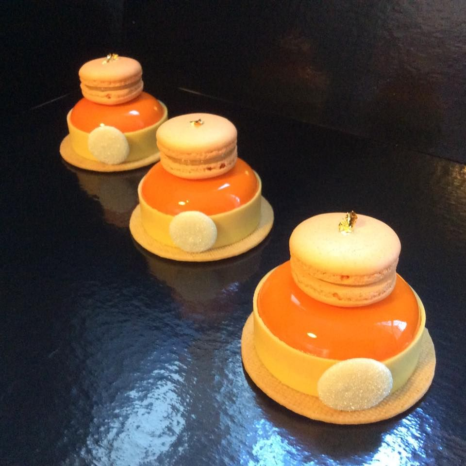 Entremets individuel sabl breton biscuit au calisson for Glacage miroir 2 couleurs