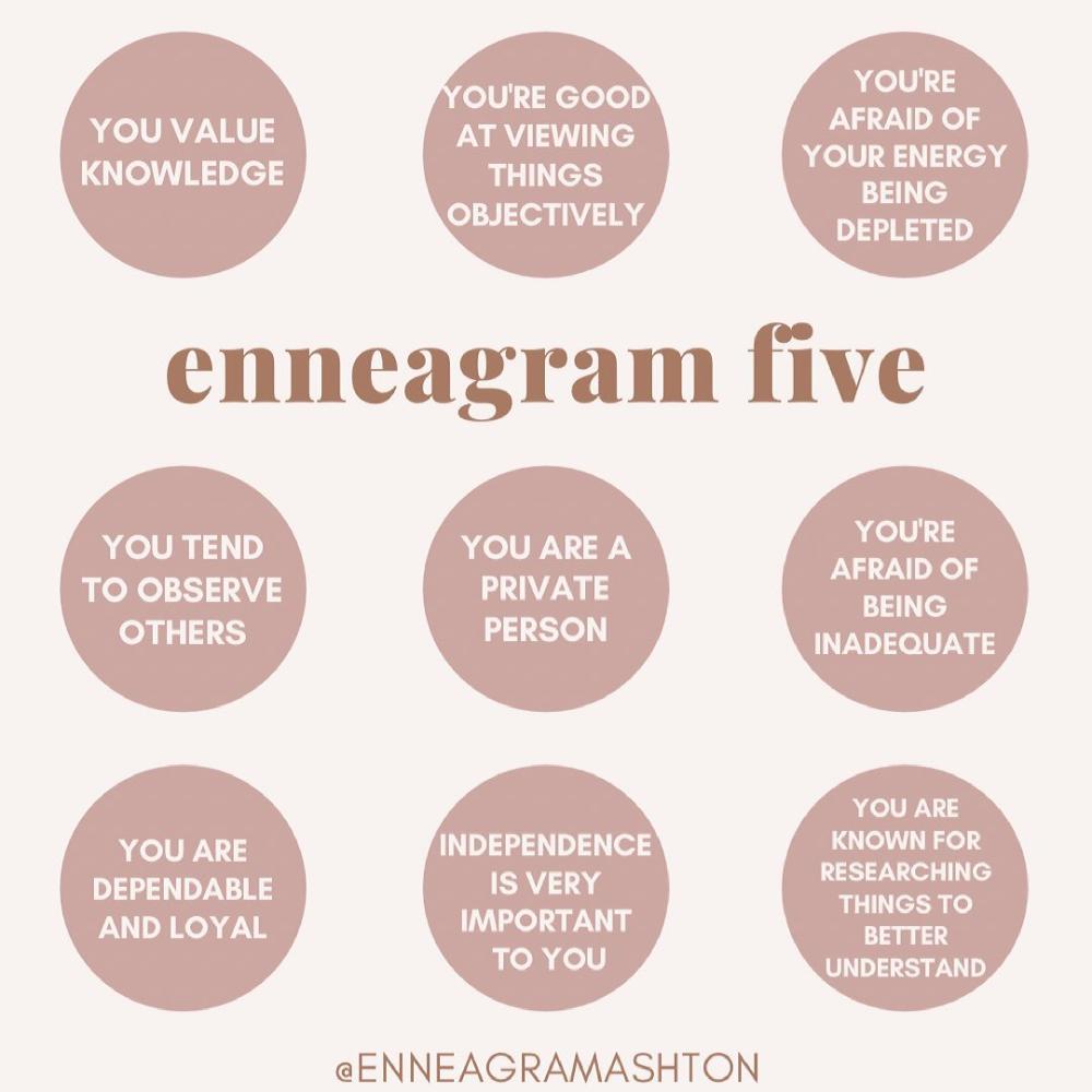 "Ashton Whitmoyer-Ober's Instagram post: ""If you're an #enneagram5, what relates to you? 👇🏼🤍"""