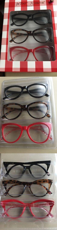 8f3a777d8271 Betsey johnson (3) reading glasses oversized 2.00+ black