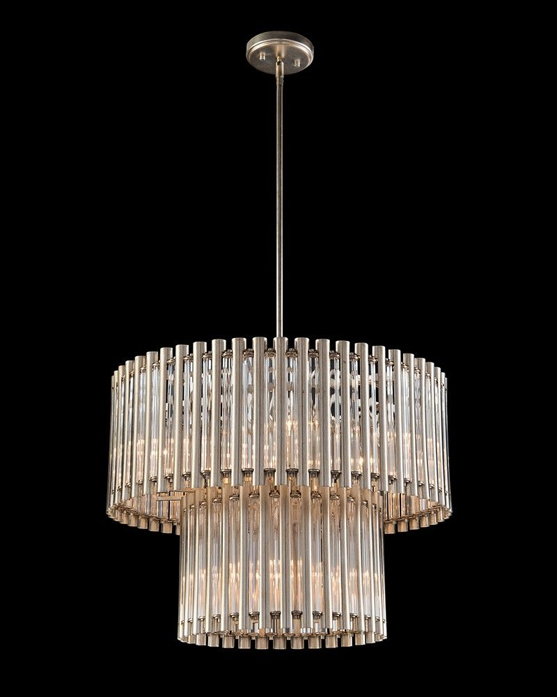 Crystal tube nine light pendant entryway pinterest crystals