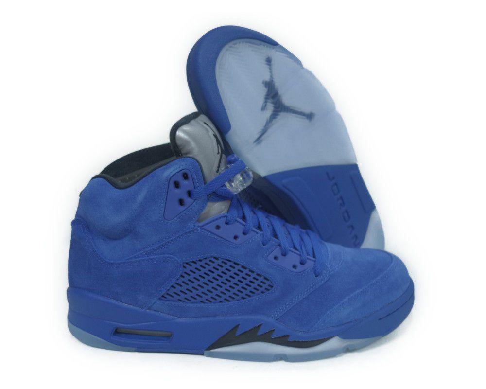 promo code b8130 96d50 ... netherlands 136027 401 air jordan 5 retro game royal black men sneaker  size 13 02f68 e69a5