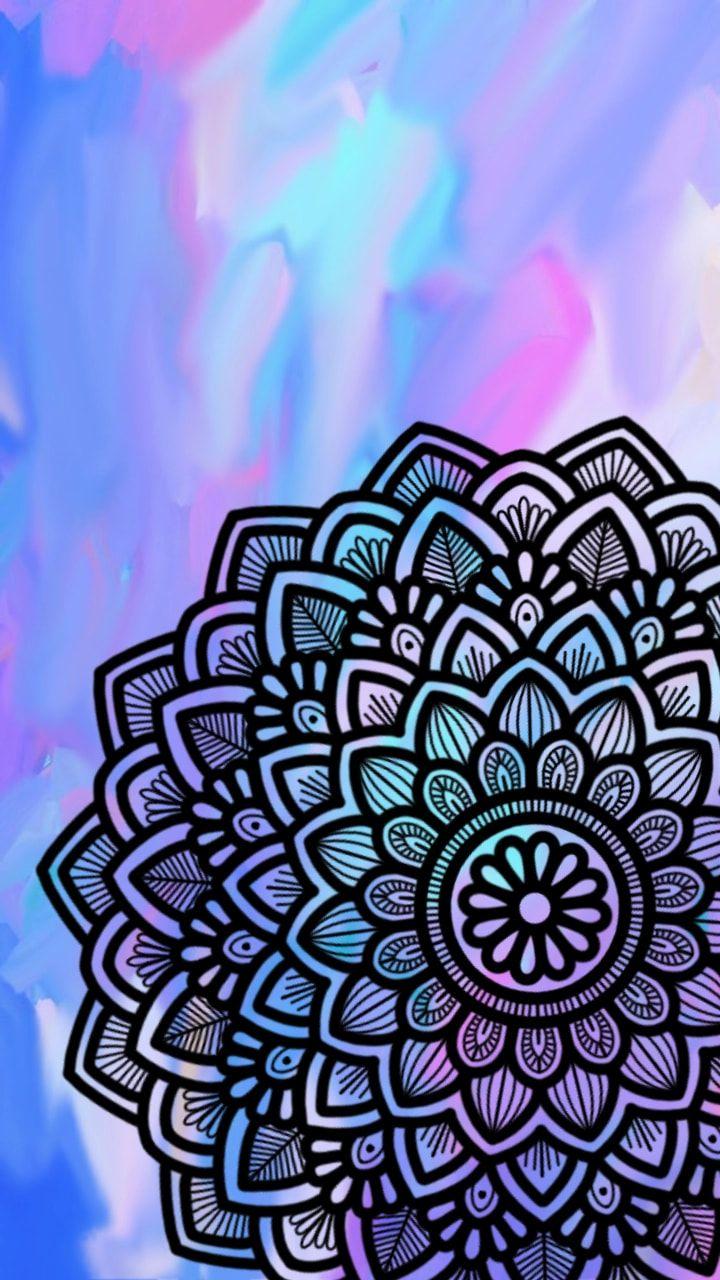 Mandala mandalas arte fondo color tumblr - Colores para mandalas ...