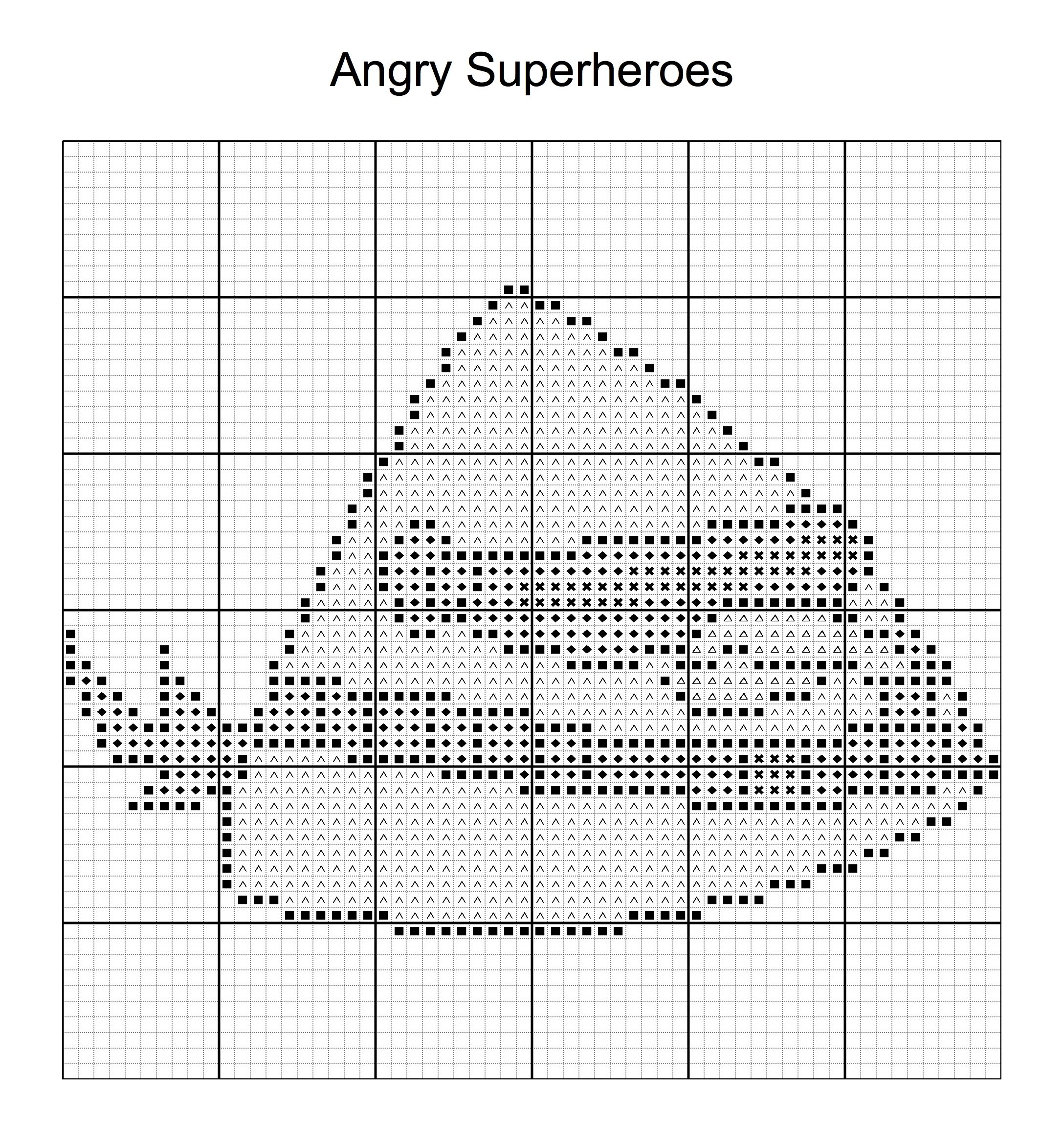 Cross Stitch - Angry Bird Superheroes 4 of 16 - cyclops | ANGRY ...