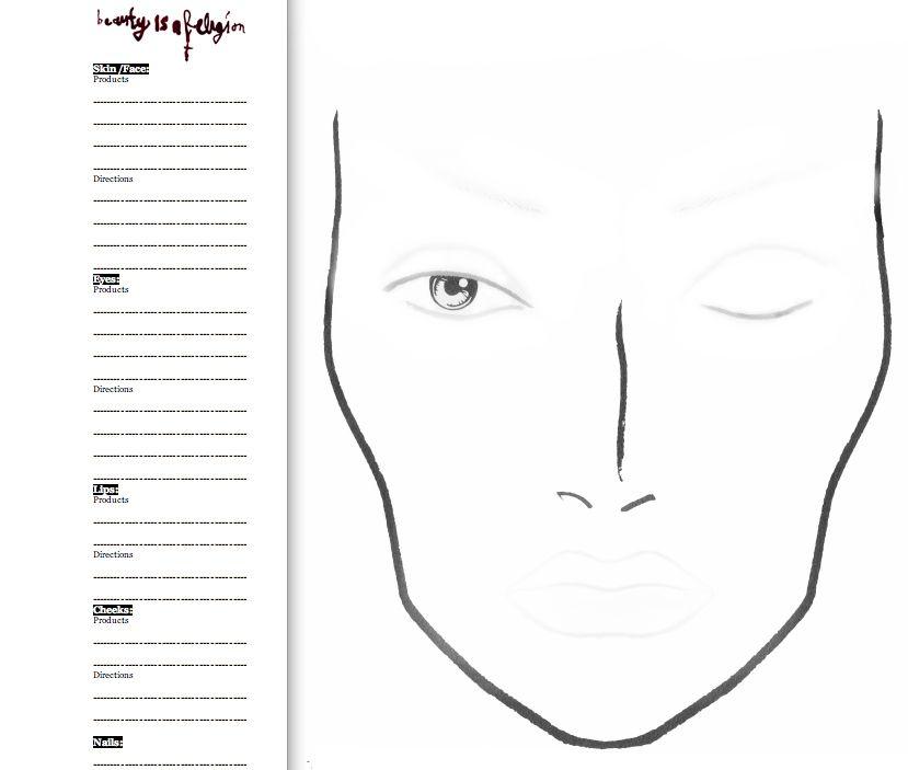 PLASTIC This MAC face chart everyone wants – Eye Chart Template