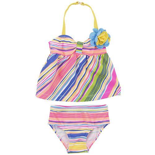 9d45006e47 Koala Baby Girls Flower Halter Tankini Swimsuit | Toddler | Baby ...