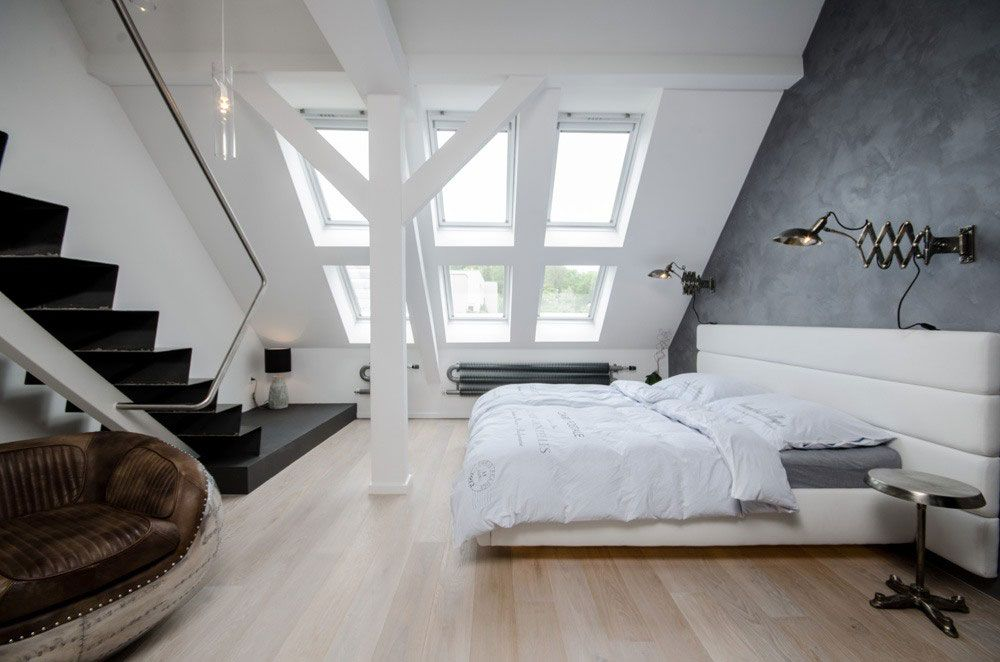 Grey Loft 07 Attic Bedroom Designs Minimalist Bedroom Bedroom Design