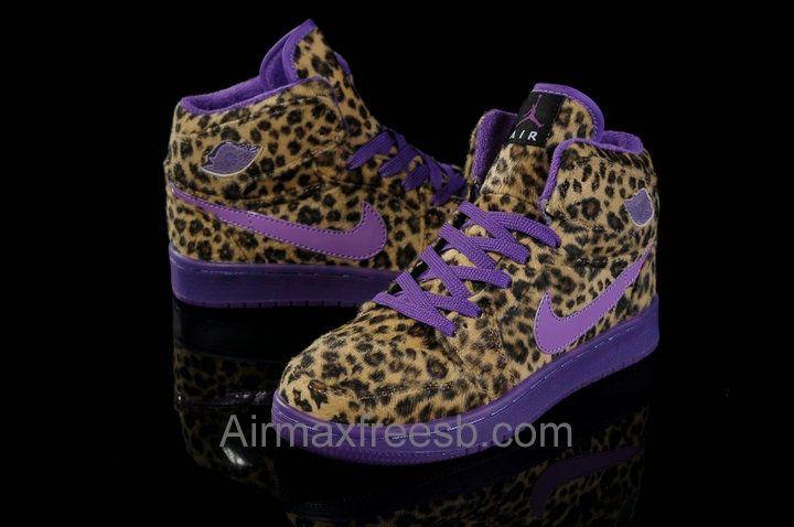 Purple sneakers, Purple leopard print