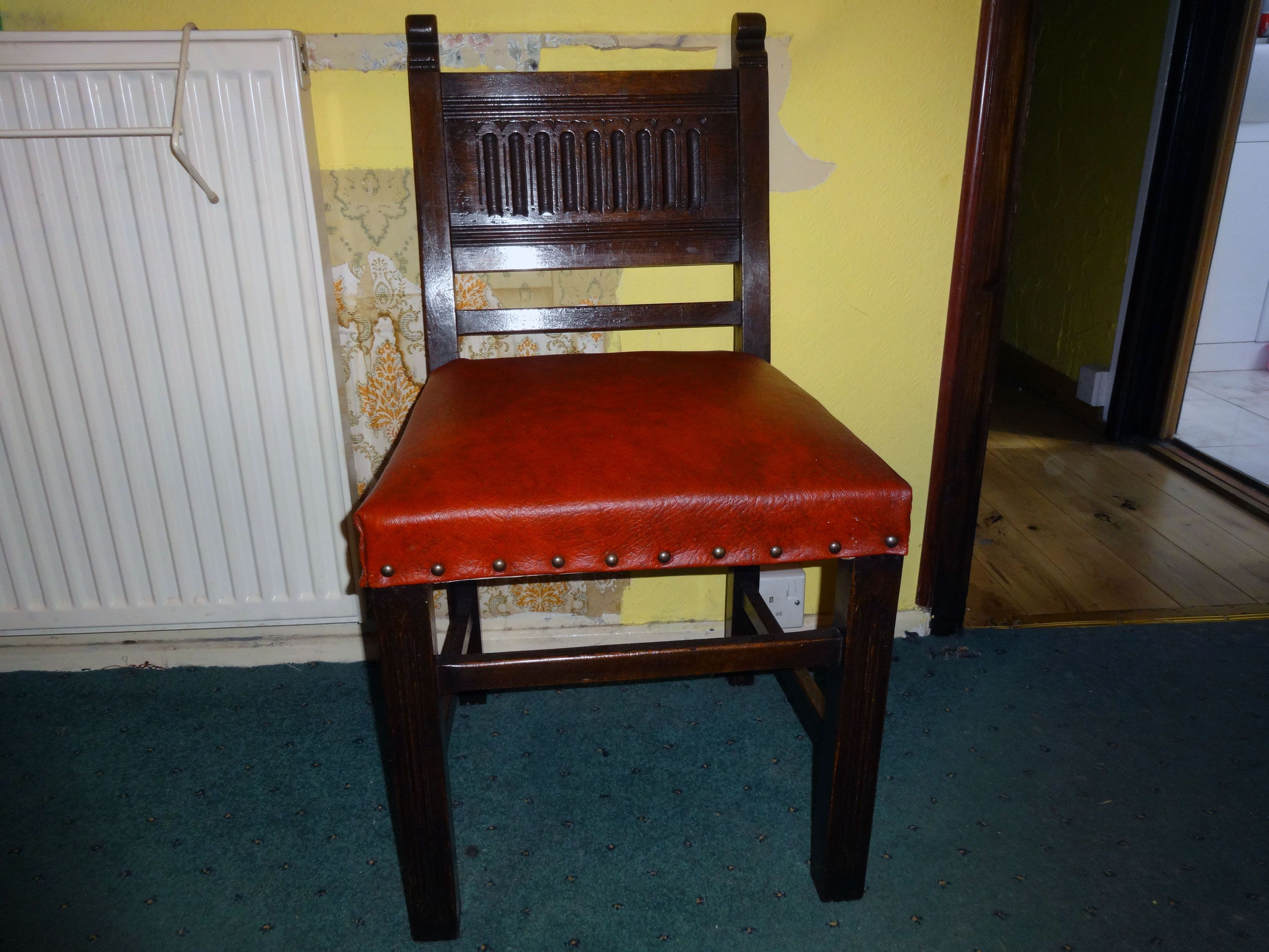 Renovating And Reupholstering A Set Of Four Solid Oak Carved Back