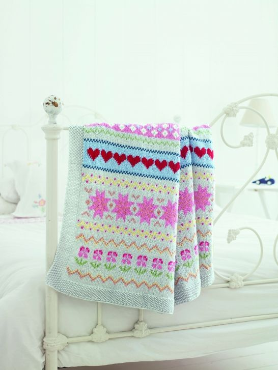 Homemaker Magazine Issue 33 Fair Isle Blanket - pattern by Nicki Trench