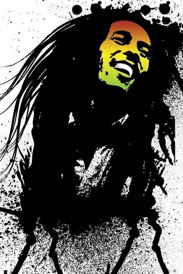 Bob Marley Wallpaper Black And White