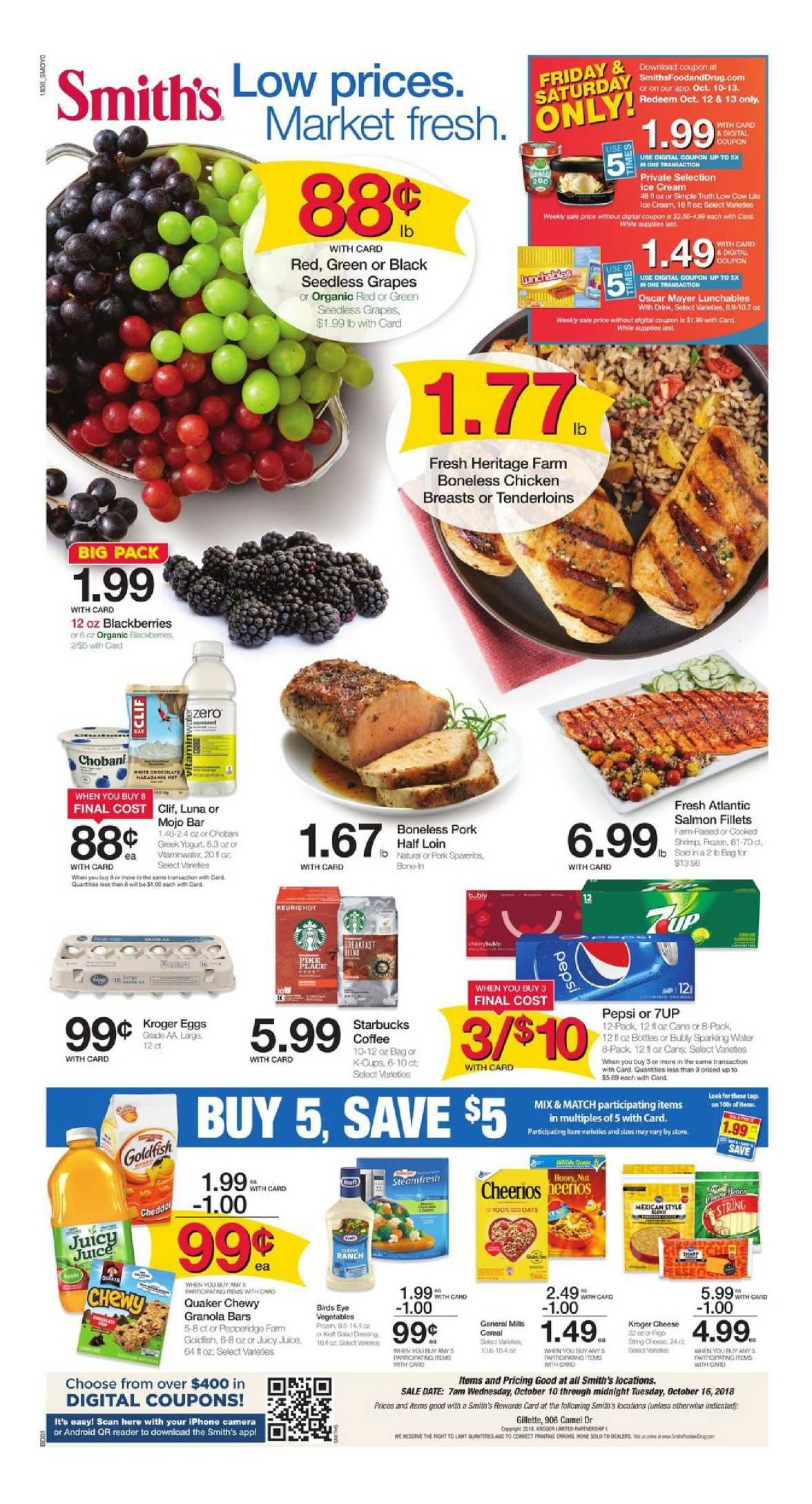 Browsing Latest Smiths Weekly Ad Flyer This Week Period October 10 16 2018