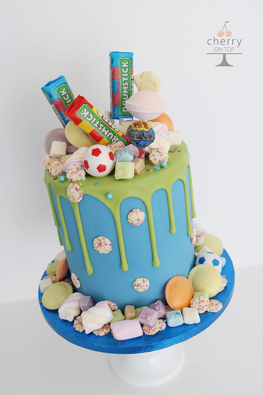 Remarkable Green Blue Sweetie Drip Birthday Cake With Images Sprinkles Personalised Birthday Cards Epsylily Jamesorg