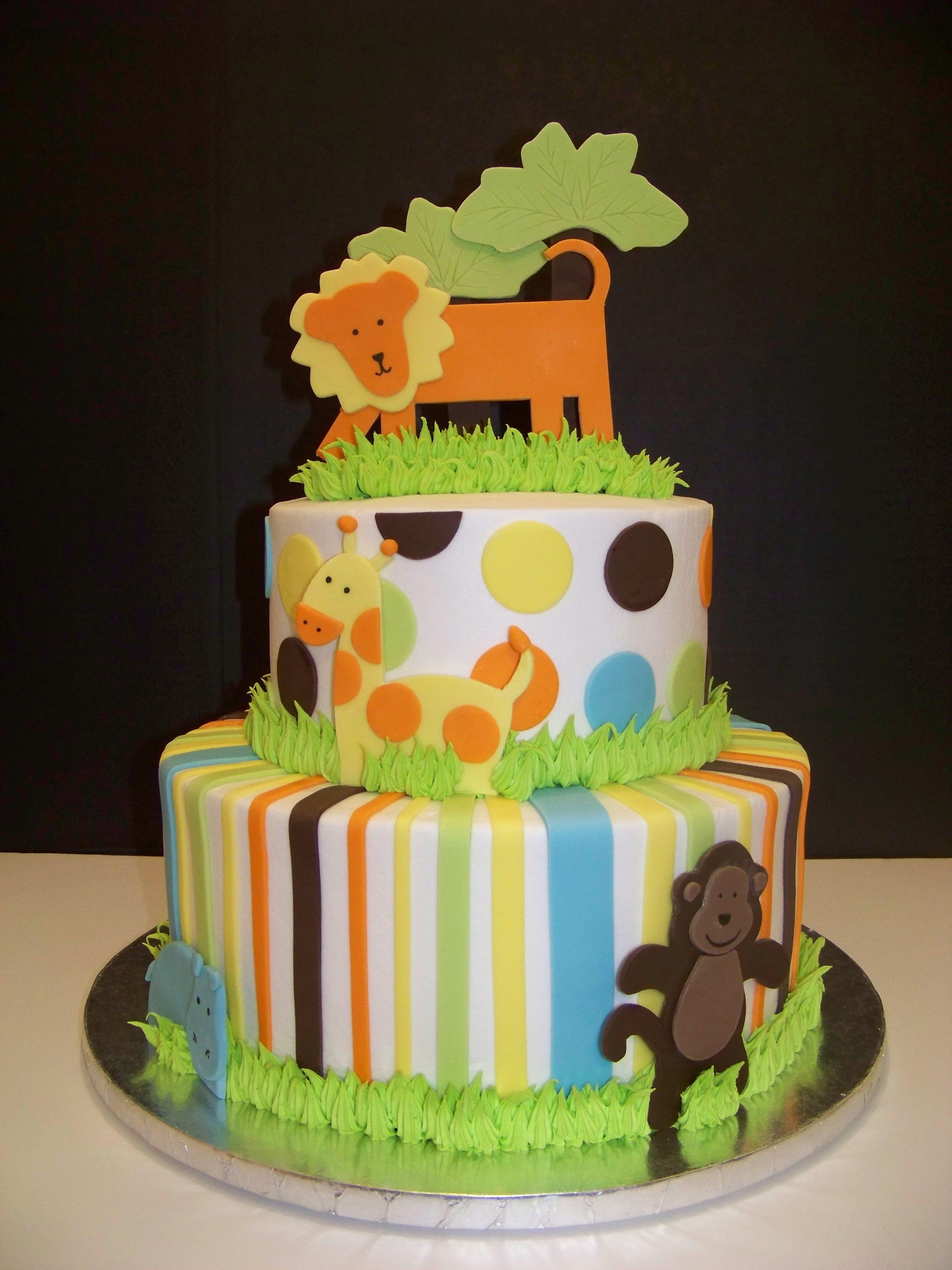 King Of The Jungle First Birthday Ideas | King Of The Jungle Baby Shower  Cake