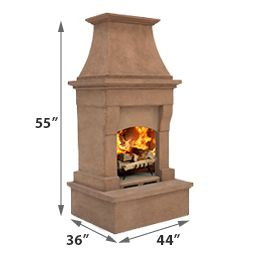 Santa Clarita Outdoor Wood Burning Fireplace