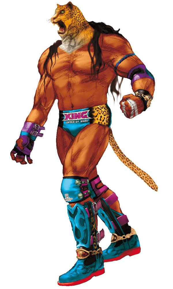 Tekken King Character Art Tekken 4 King Art