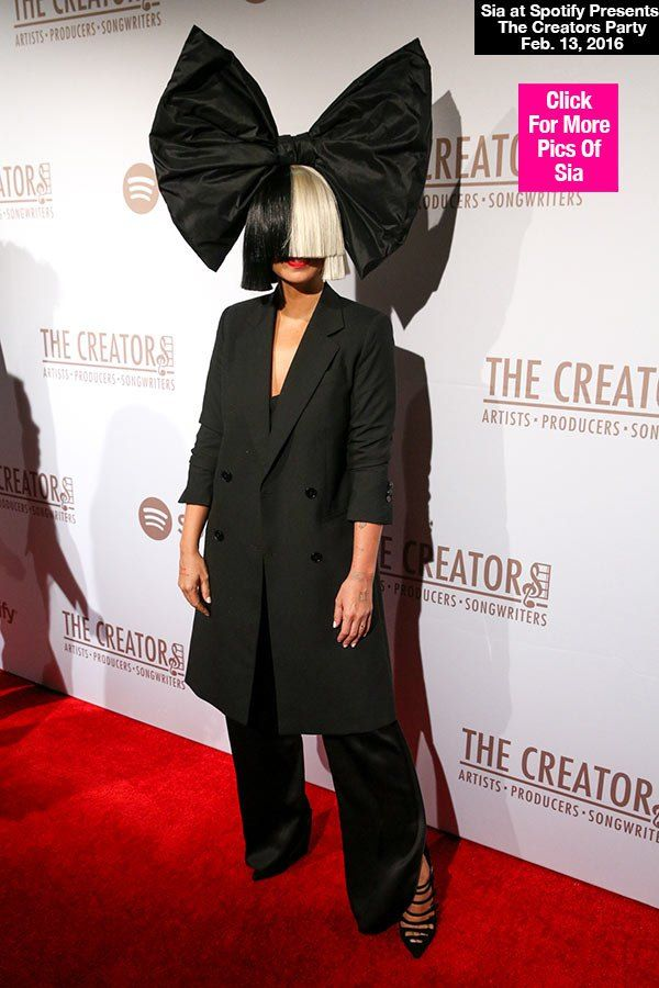 Sia Takes Off Her Iconic Wig At Pre-Grammys Party — See Her Face In NewPics