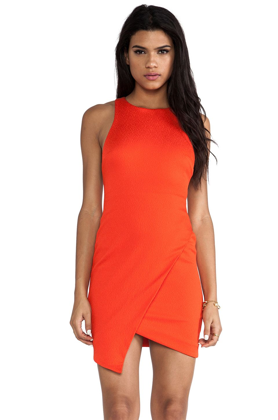 BECBRIDGE+Isis+Angle+Dress+in+Tangerine+from+REVOLVEclothing+
