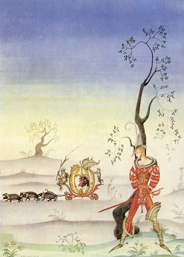 The Frog Bride - Grimm's Fairy Tales - Kay Nielsen art print