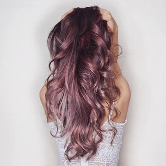 Couleur cheveux chocolat rose