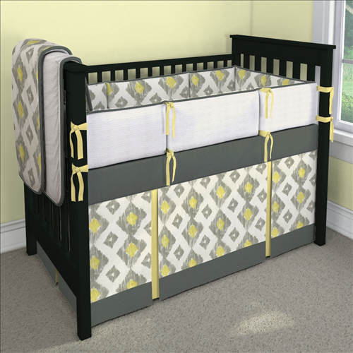 Lemongr Kashan 2 Pleat Custom 4 Piece Crib Bedding Set