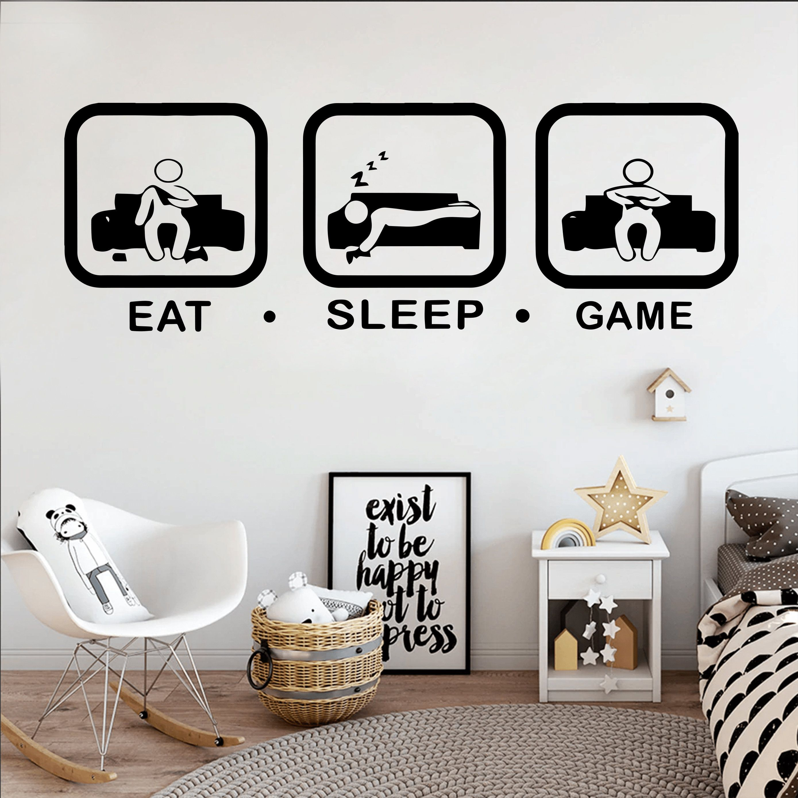 Gamer Wall Decor Custom Controller Decal Video Game Girl Boy Room Gifts Him Bedroom Gamer Dad Life Vinyl Wall Art Decals Kids Stickers 161er Vinyl Wall Art Decals Decal Wall Art