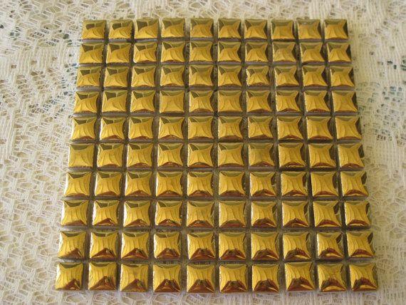 Shiny Gold Glazed Ceramic Tiles For Mosaics Inch Square Set Of - 3 inch square ceramic tiles