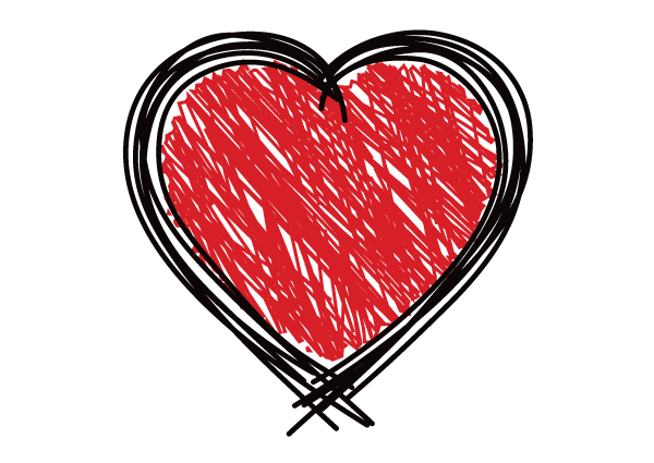 Free Scribble Heart Vector Graphics Free Valentine S Day Vector