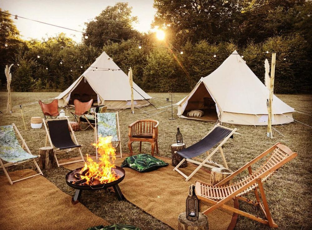 Luxury tents for rent at French