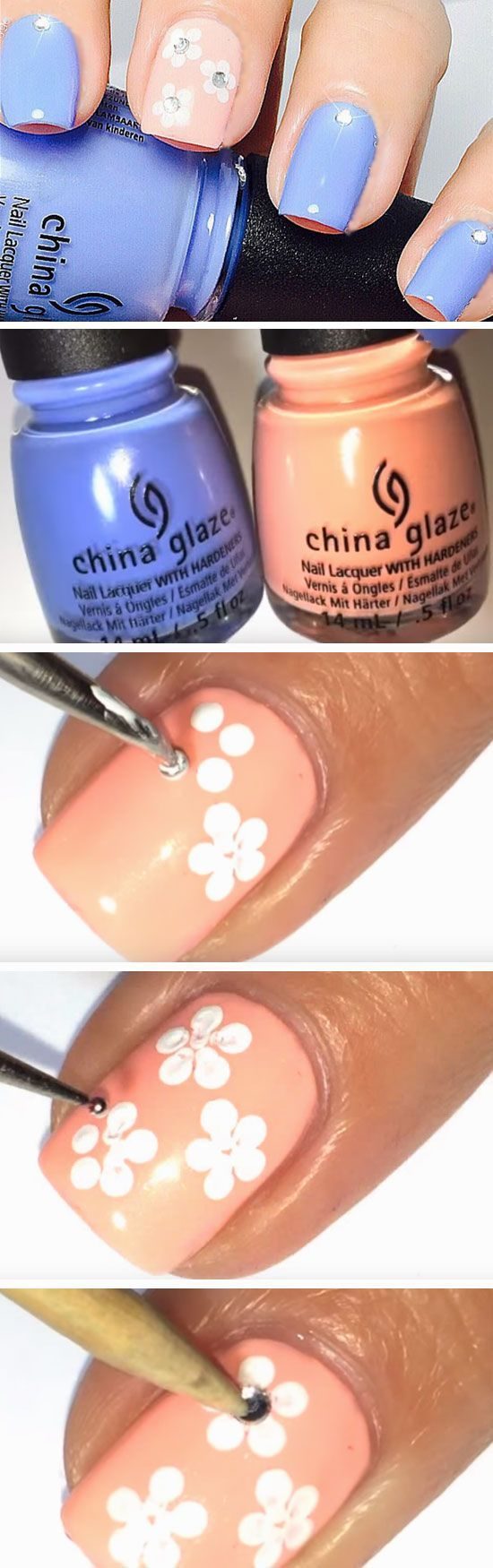 Cool easy spring nail designs for short nails nails pinterest