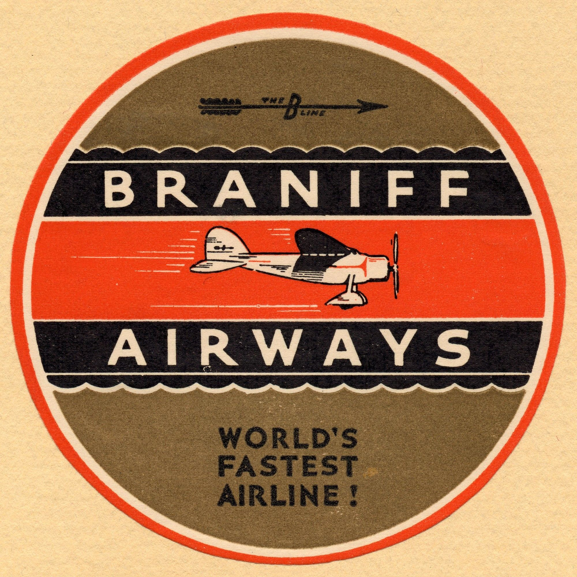 Braniff Airlines 2 Licensed Smithsonian Graphic Art on Canvas