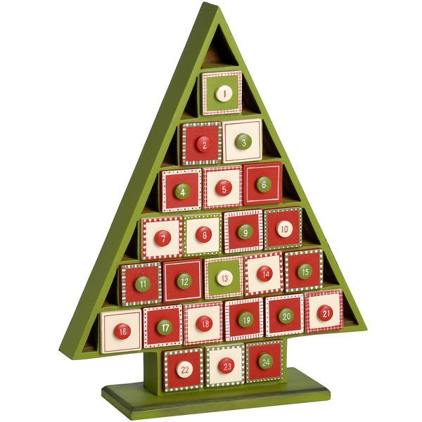 Wooden Advent Calendar Tree | Christmas Decorations | Interior ...