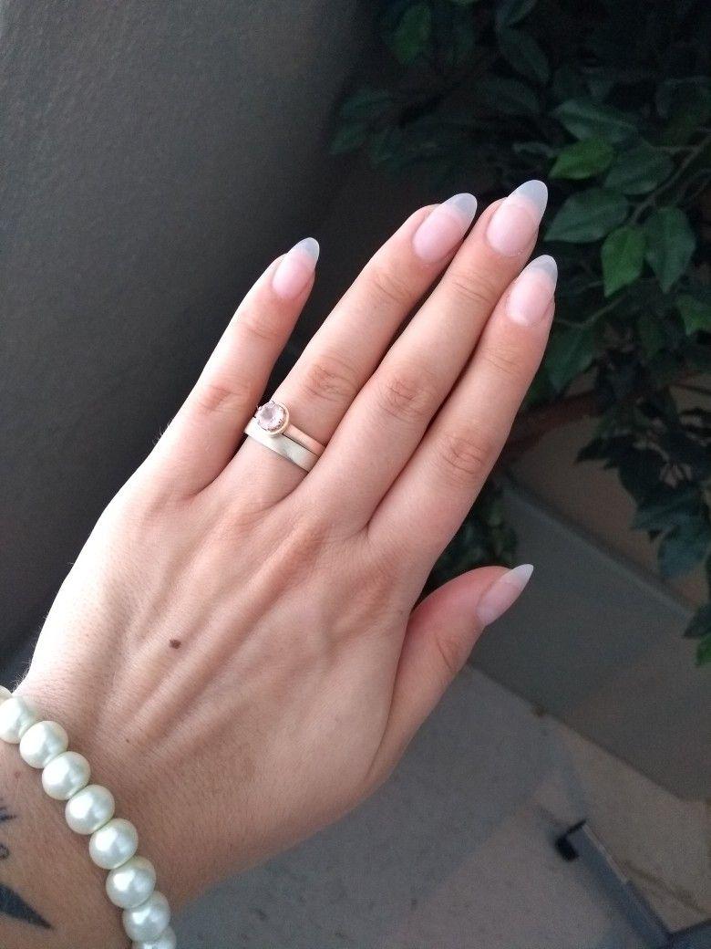 Almond Natural Light Pink Matte Acrylic Nails Matte Acrylic Nails Nail Colors Acrylic Nails