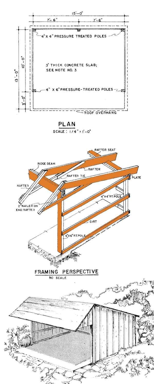 Loafing Shed Plans Elevation Diy Shed Plans Loafing