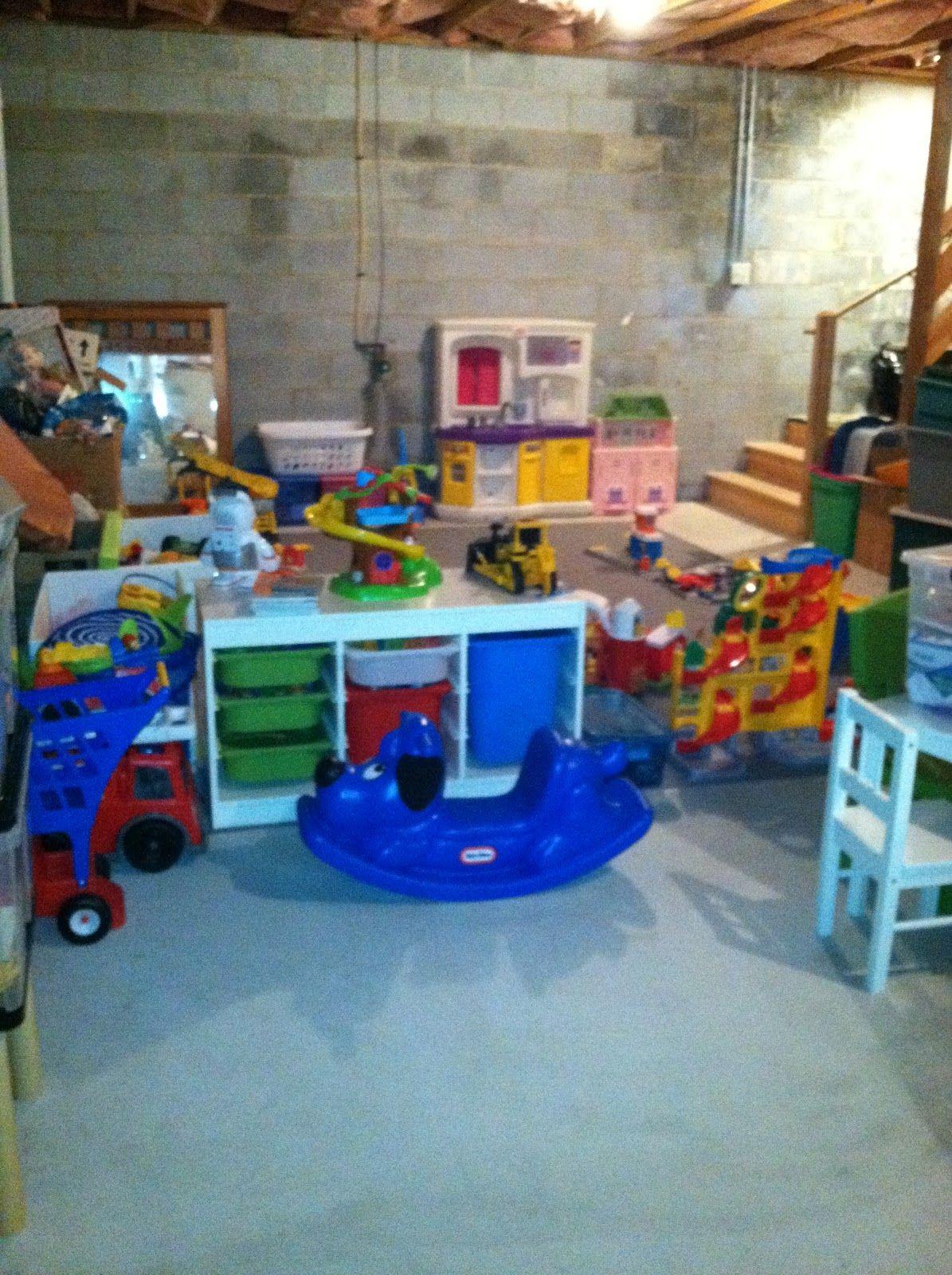 Rustic playroom that the kids LOVE