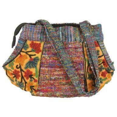 Cash & Silk Reversible Round Ladies Bag