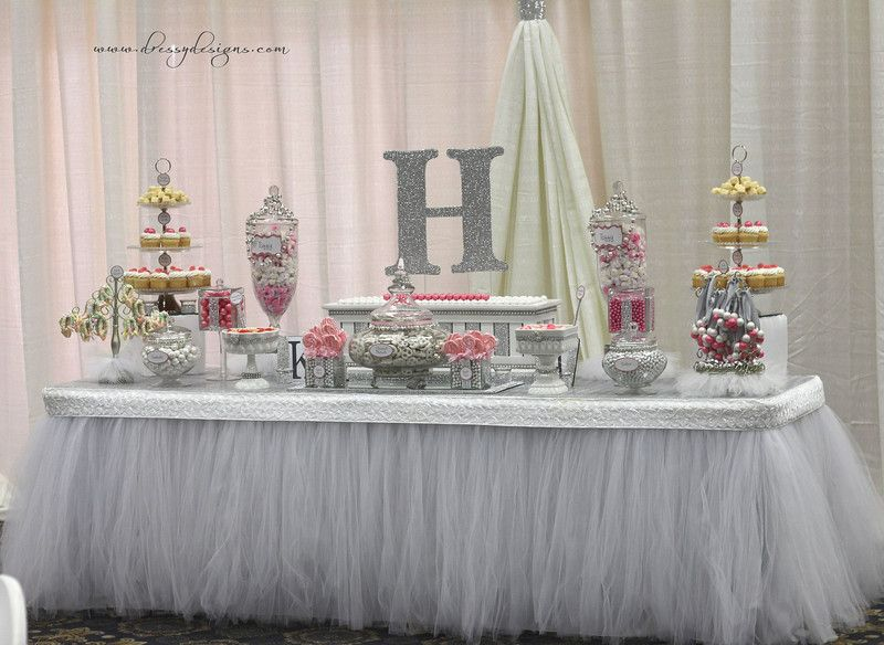 candy buffet pink candy bling