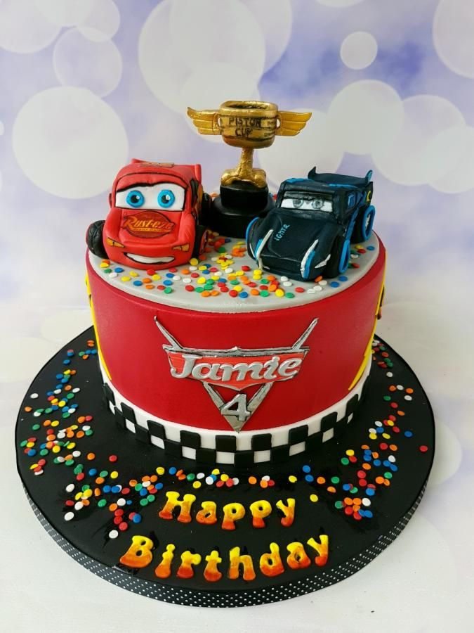 Cars 3 Cake For A 4yr Old By Jenny Dowd Cakes Cake Decorating