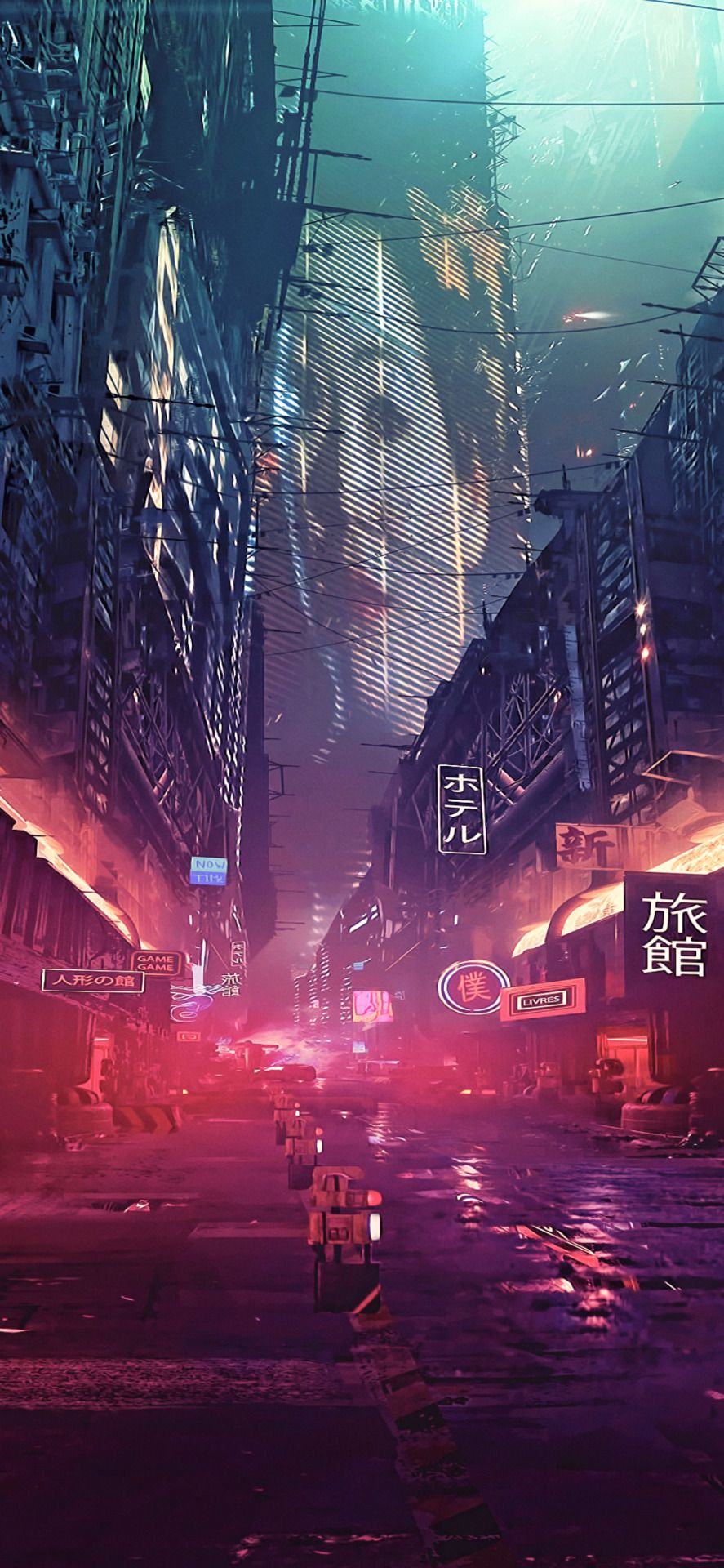 Cyberpunk Wallpaper Space Landscape Background Cyberpunk Anime