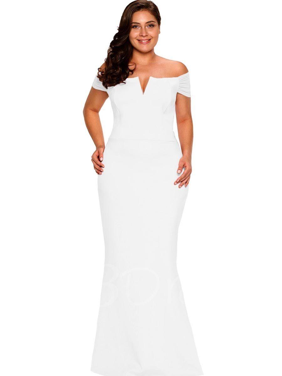 Plain Slash Neck Plus Size Women S Maxi Dress Tbdress Com Formal Party Dress Dresses Evening Gowns [ 1200 x 900 Pixel ]