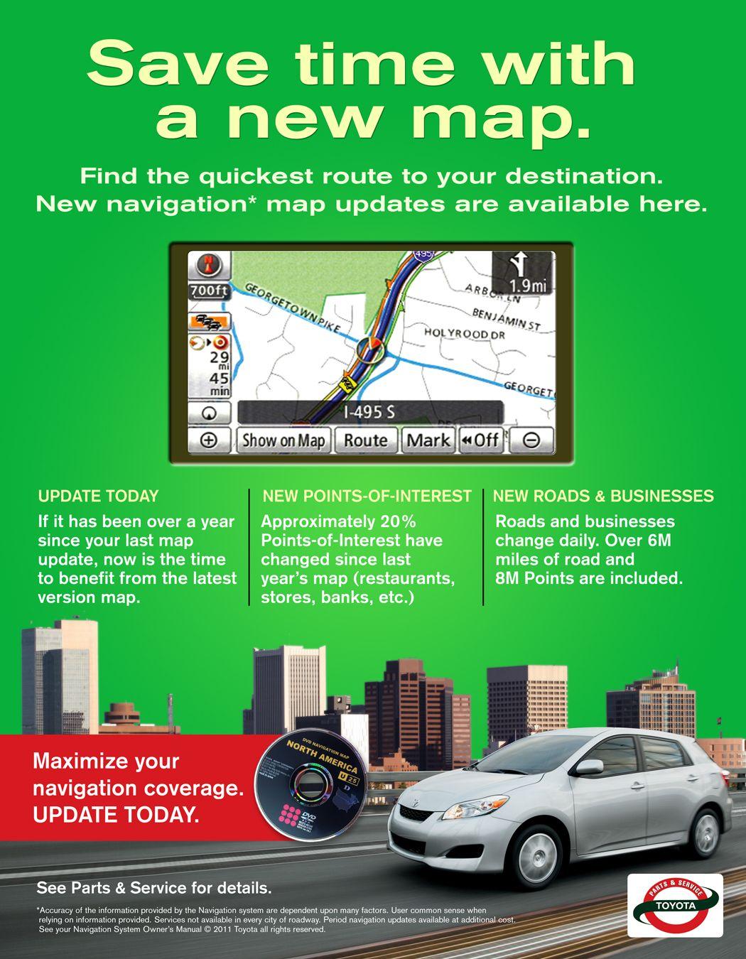 Navigation Map Update Pop Map