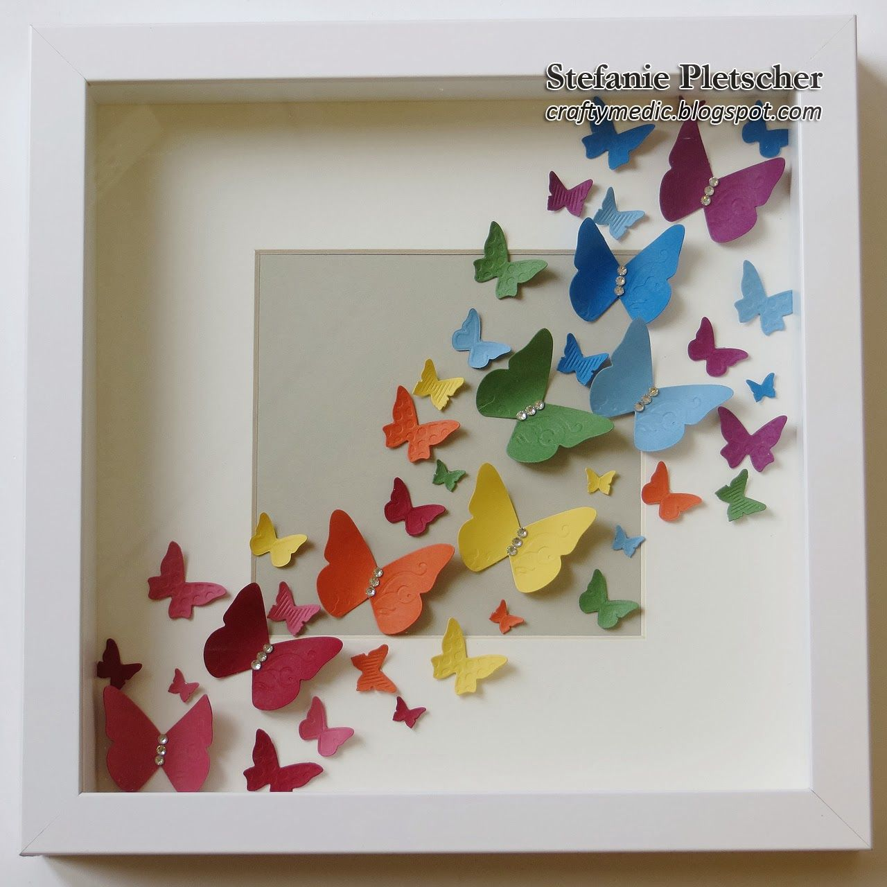 The Crafty Medic - Stampin\' Up! Beautiful Wings butterfly shadow box ...