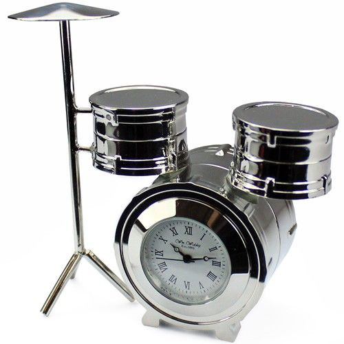 Engraved Mini Drum Kit Clock From Personalised Gifts Shop Only