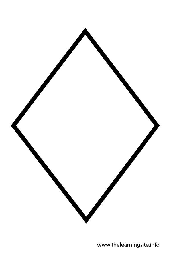 Diamond Shape Templates | coloring pages | Pinterest | Template ...