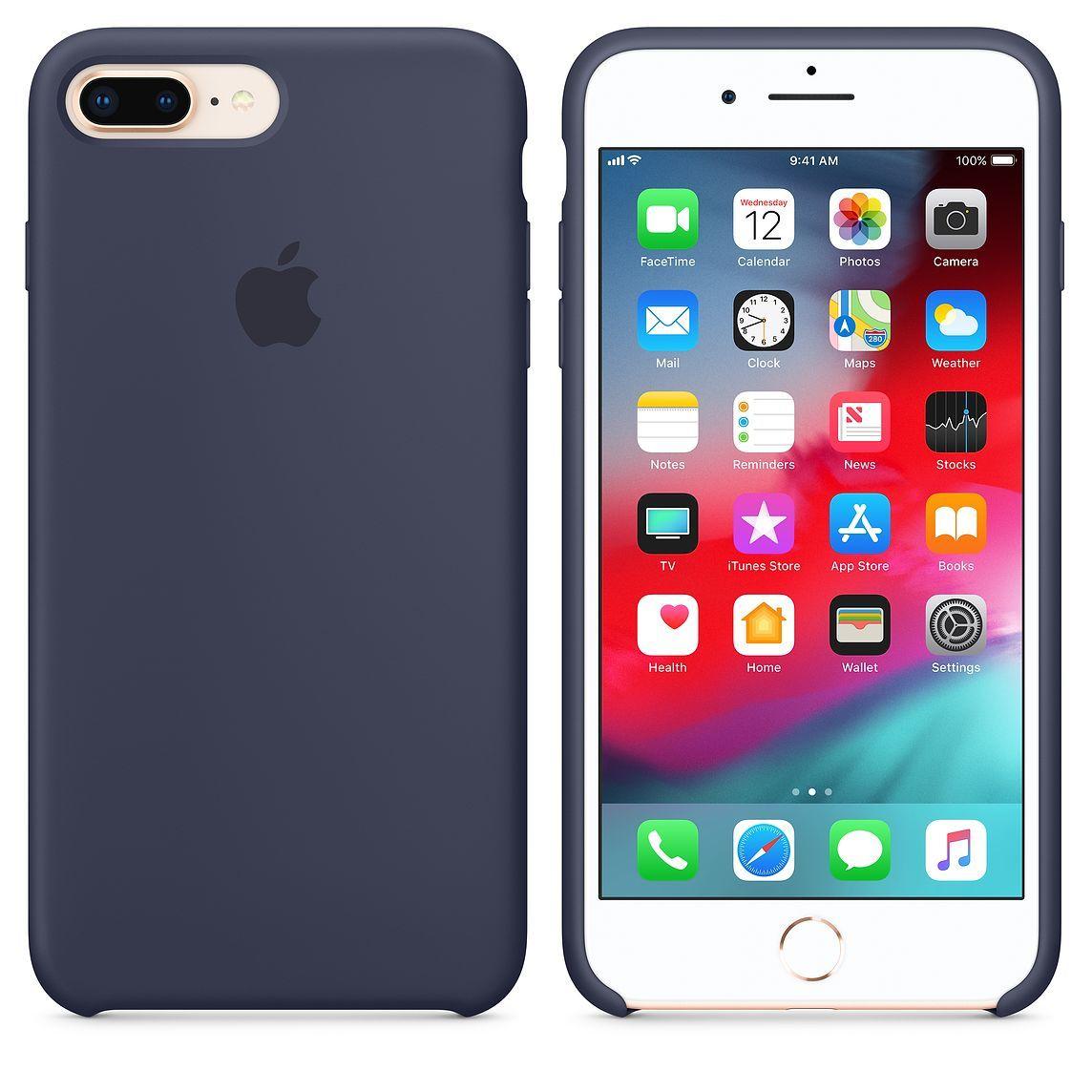 Iphone 8 Plus 7 Plus Silicone Case White Fundas Para Iphone