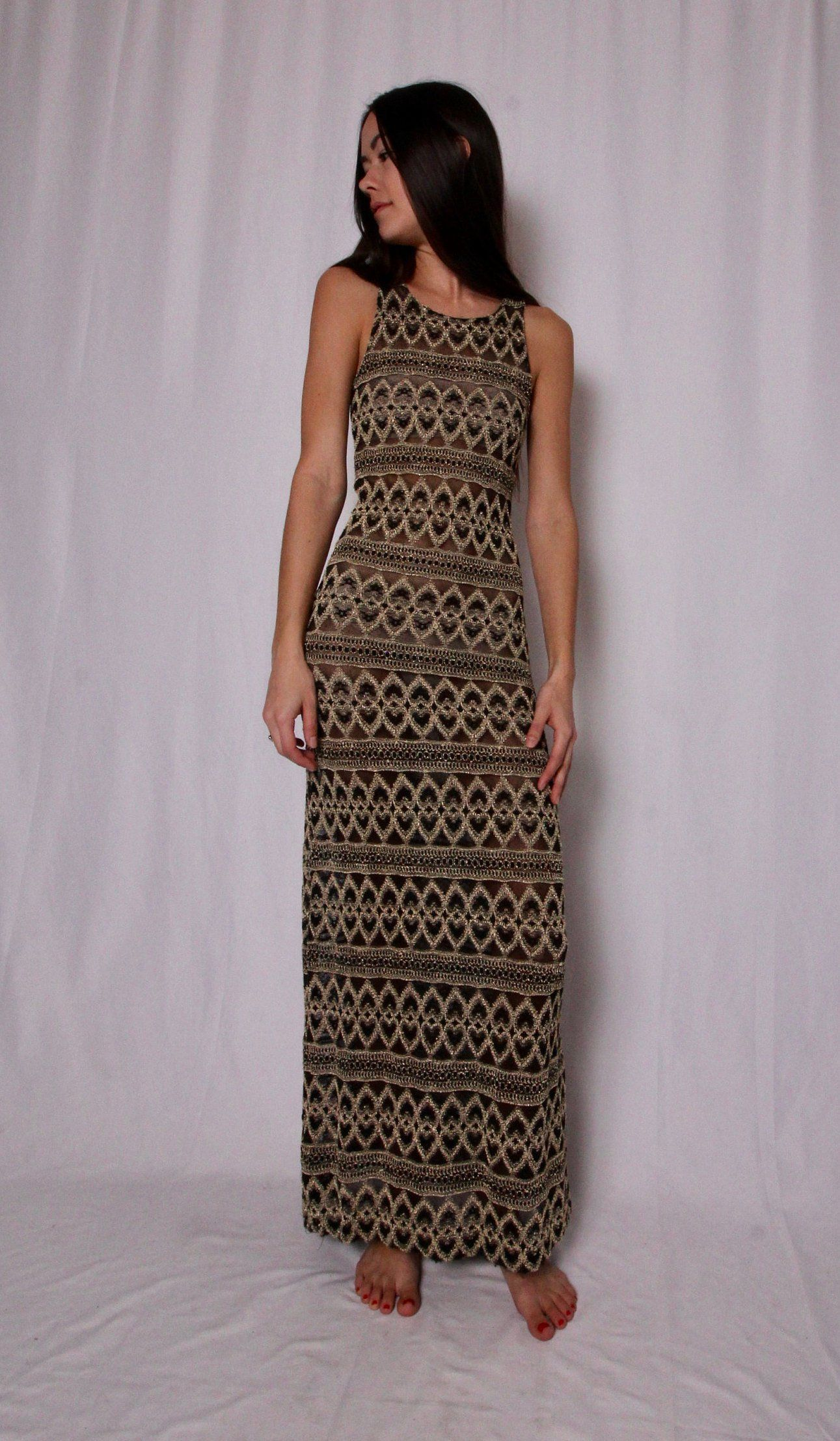 Summer Dress Abstract Dress Gypsy Dress 90s Dress Aztec Dress Hippie Dress Floral Dress Vintage Dress Boho Dress Festival Dress