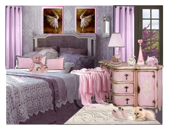 """Isabelle's room"" by chimechn ❤ liked on Polyvore featuring interior, interiors, interior design, home, home decor, interior decorating, Commonwealth Home Fashions, Newgate, Zuny and Herend"