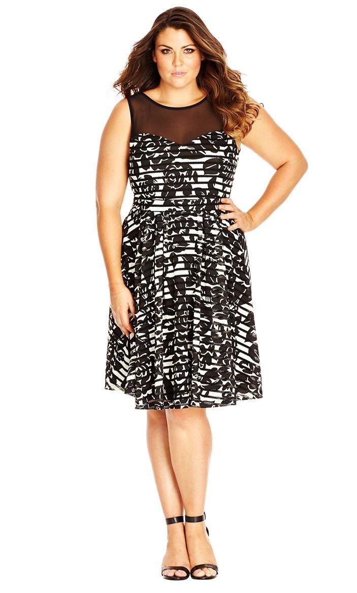 7ae1b4335f Mono Sheer Panel Dress