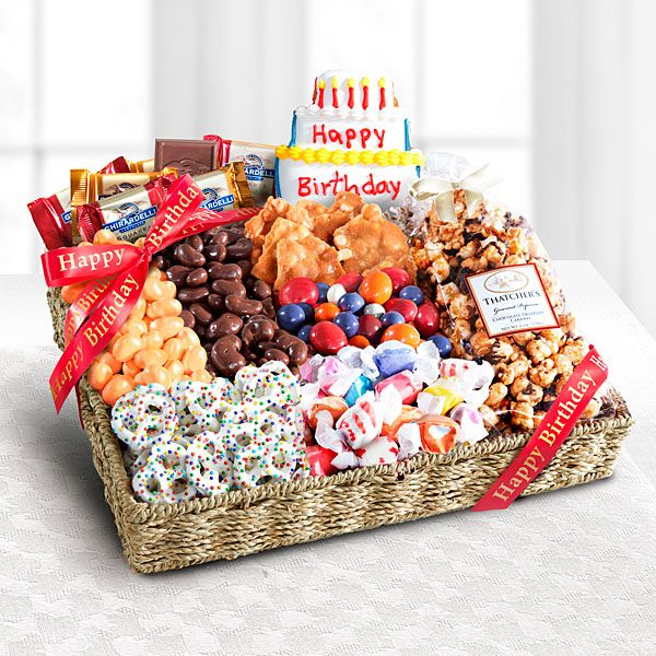 Birthday Festive Feasting Snack Tray Send Gifts Gift Baskets Diy